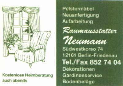 polsterei neumann. Black Bedroom Furniture Sets. Home Design Ideas